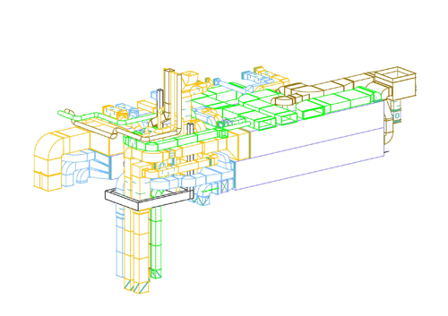construction drawing of ventilation center